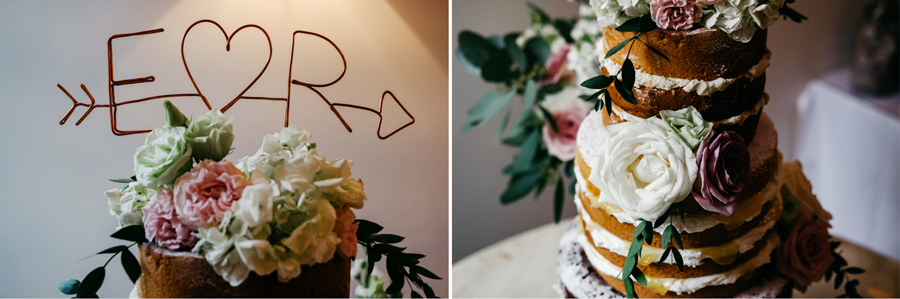 Wedding Cake Flowers, Mythe Barn Wedding, Ed Brown Photography