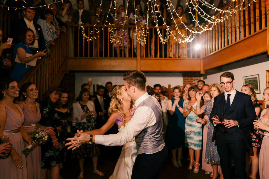 REAL WEDDING - The Eco-Conscious Woodland Wedding Of Emily And Daniel, Captured By Gina Manning Photography At Chaucer Barn, Norfolk - first dance