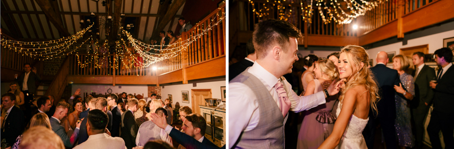 REAL WEDDING - The Eco-Conscious Woodland Wedding Of Emily And Daniel, Captured By Gina Manning Photography At Chaucer Barn, Norfolk - dancing