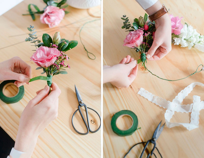 Image: Dehan Engelbrecht for The Pretty Blog; wreath by White Kite Studio
