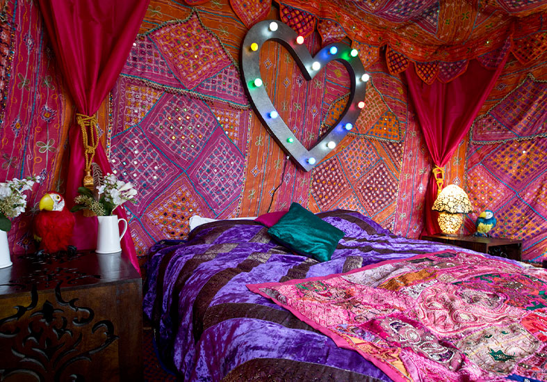 Beautiful luxury portable boudoir by the Arabian Tent Company