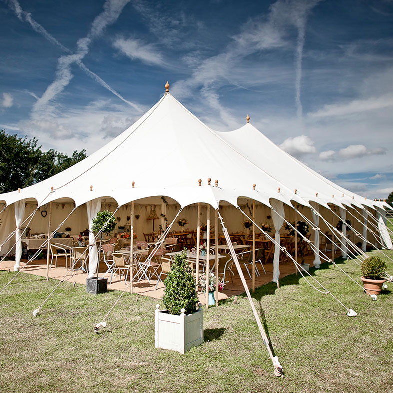 Beautiful natural canvas wedding tent by Posh Frocks and Wellies