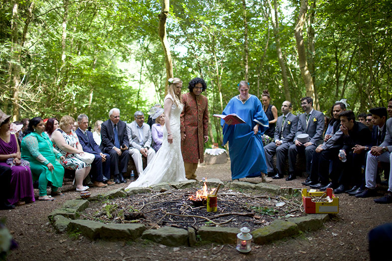 The circular fire pit where Ravi and I stood with our celebrant