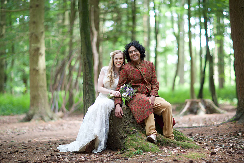REAL WEDDINGS: A natural handfast wedding ceremony in the Forest of Dean: Annette and Ravi