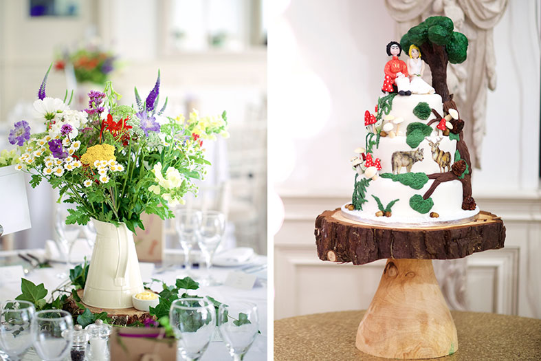 Flowers by Organic Blooms and vegan wedding cake