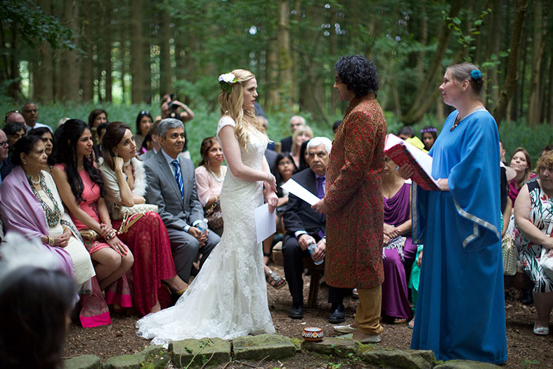 Our hand fasting was held in the log circle in the Forest of Dean