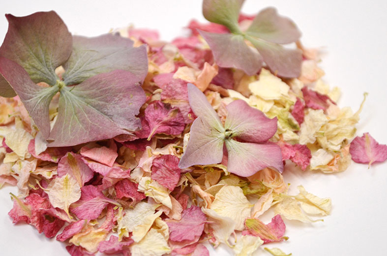 Natural Wedding Petal Confetti from Shropshire Petals