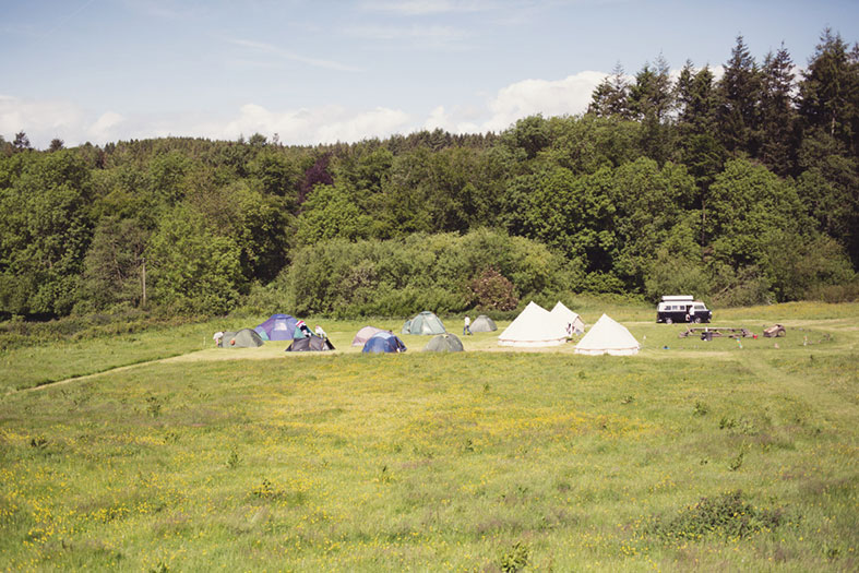 We encouraged our guests to camp on site for the weekend