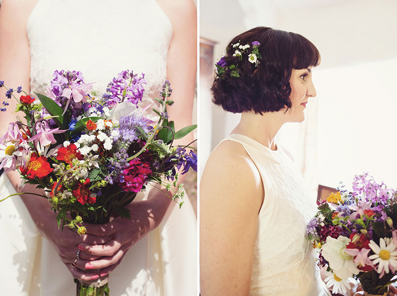 I loved the simplicity of my dress and home grown flowers