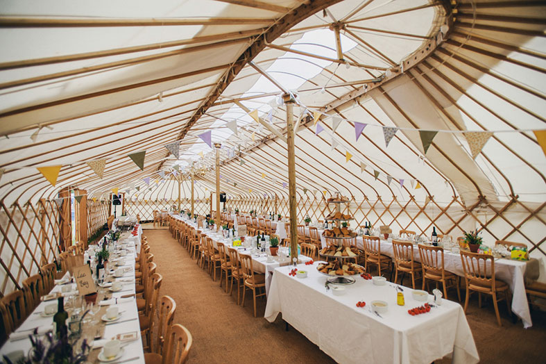The huge Pavilion Yurt from Cheltenham Yurt Hire