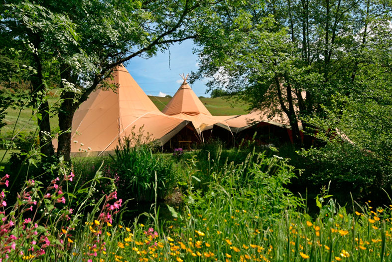 Giant Hat Teepees by The Stunning Tents Company