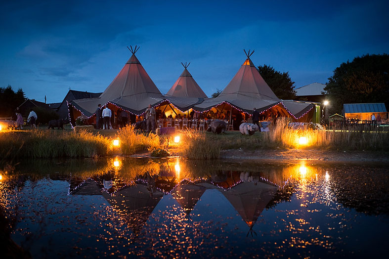Teepee tent palace from Tipis 4 Hire