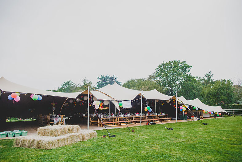 Amazing stretch tents by Wedding Tipi