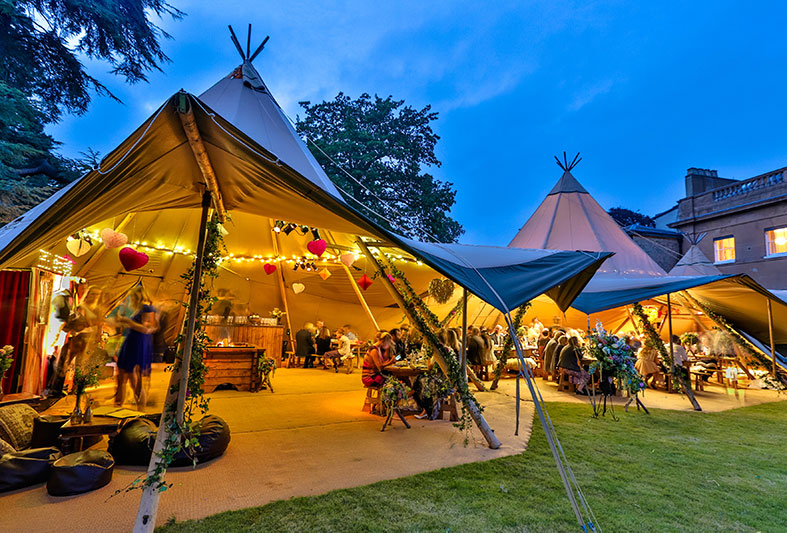 Perfectly spacious tipis for your wedding from World Inspired Tents