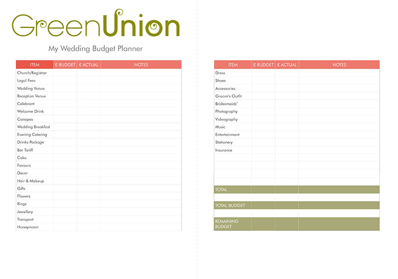 Download this FREE wedding budget planner for a flying start!