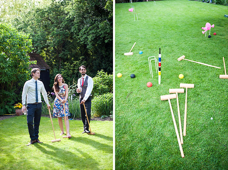 We played croquet on the lawn