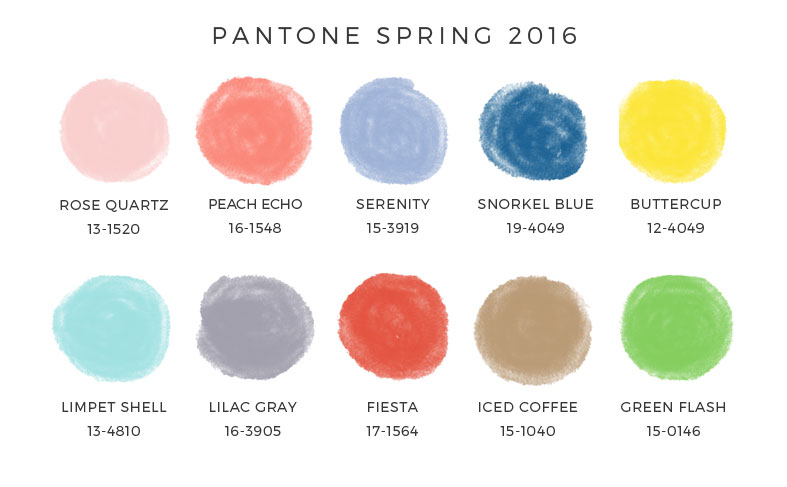 Pantone's 2016 wedding colours