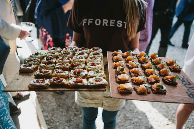 Canapes made by Fforest at Fforest