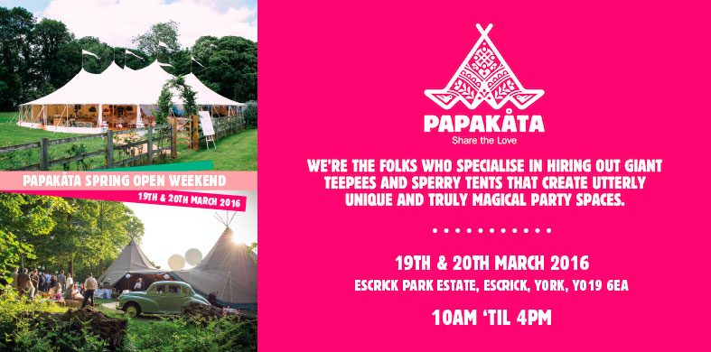WEDDING EVENT: PapaKata 2016 Spring Open Days: 19 and 20 March