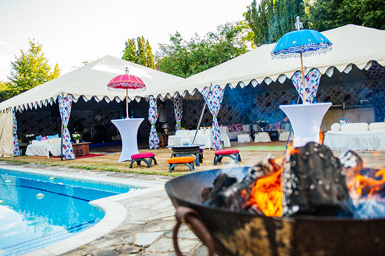Marquees filled with colour and texture from The Arabian Tent Company