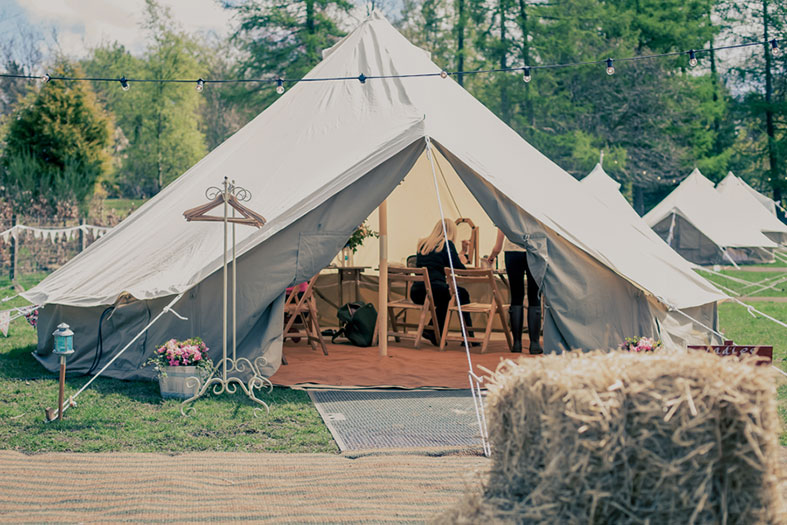 Add a tented village for your guests from Cariad Canvas