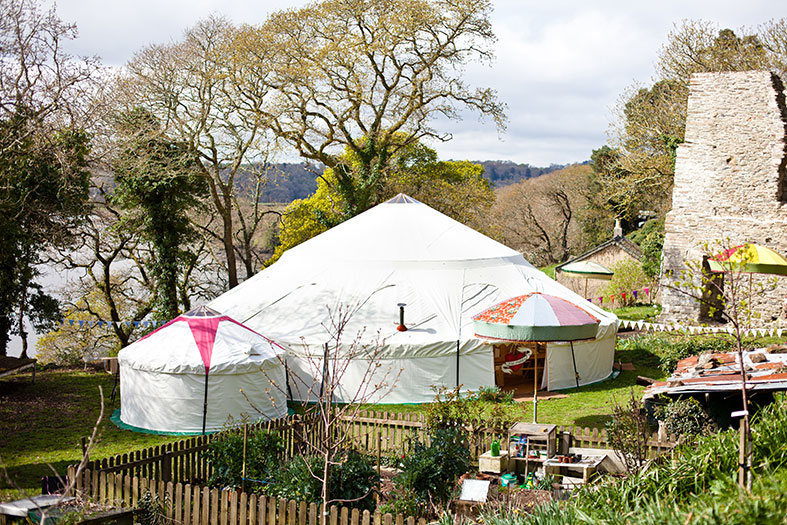 A slection of yurt sizes from Hooe's Yurts