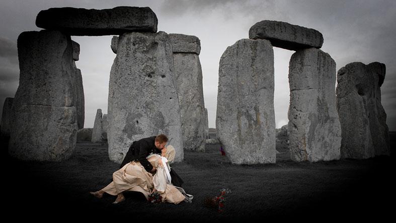 real weddings a magical sunrise pagan handfasting at
