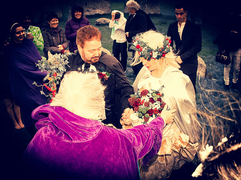 Our medieval style handfast wedding ceremony