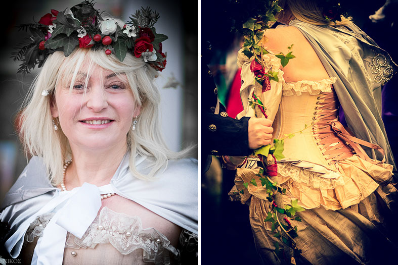 My holly and ivy crown and fitted bodice
