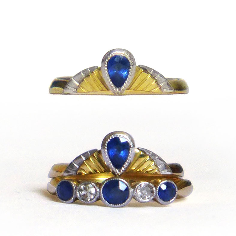 Stunning bespoke sapphire and Fairtrade Gold wedding ring