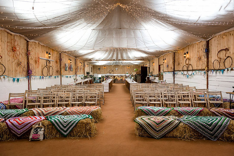 The Wedding Barn with 4000 fairy lights!