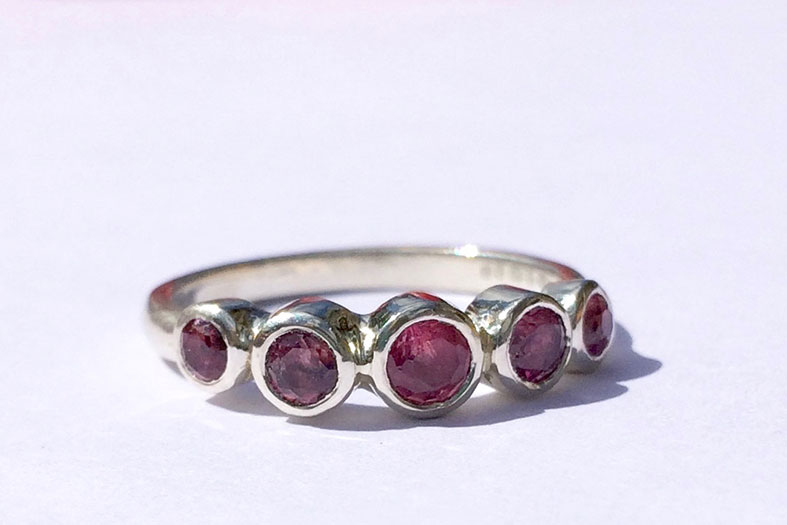 Bespoke ethically sourced ruby engagement ring