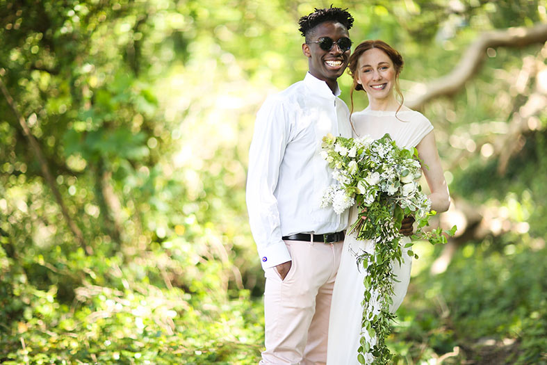 Natural Woodland Wedding Inspiration | Linda Thomas Eco Design Wedding Dresses
