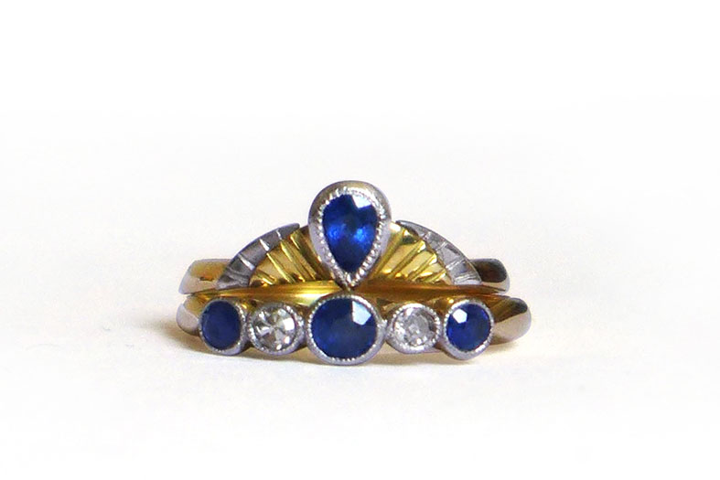 Fairtrade gold and sappire engagement ring by Daniel Darby Jewellery