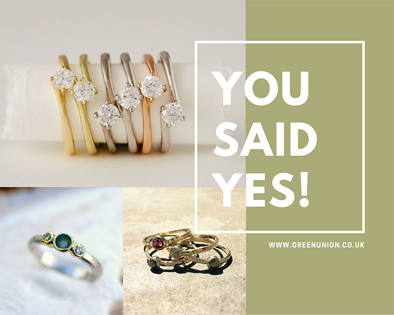 You Said Yes! Will you choose a Fairtrade and Conflict Free Engagement Ring + Lovely Jewellery Offers