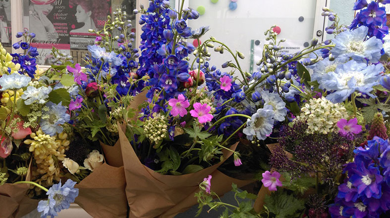 Bouquets of seasonal British flowers from The Garden Gate Southwold