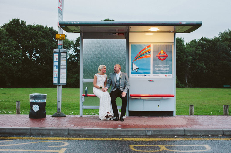 Bus stop by Sarah London Photography