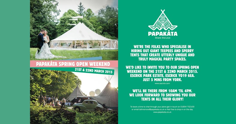 EVENT: Wedding tent open weekend up North ...