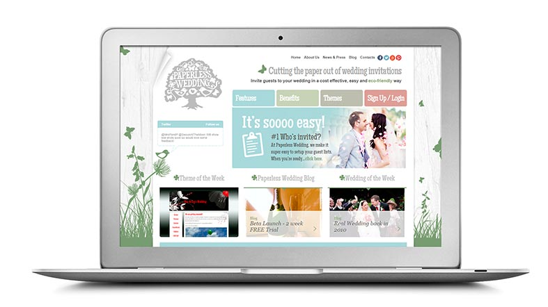 SUPPLIER FOCUS: Have a Paperless Wedding with a Wedding Wedsite