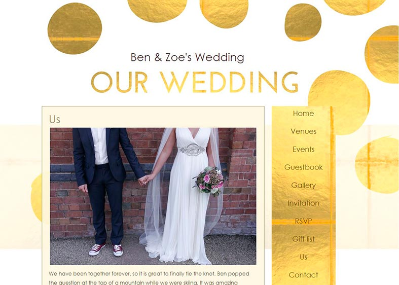 One of the many wedding themes from Paperless Wedding