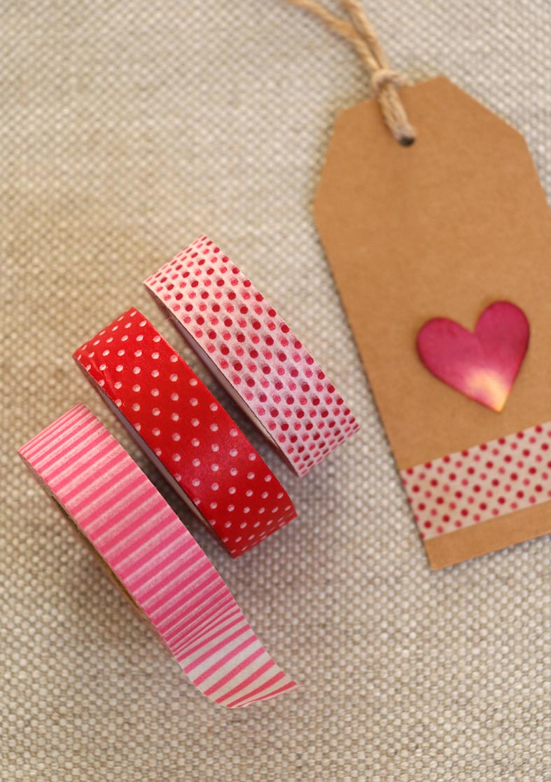 Lovely labels and wasi tape for wedding favours and Valentines