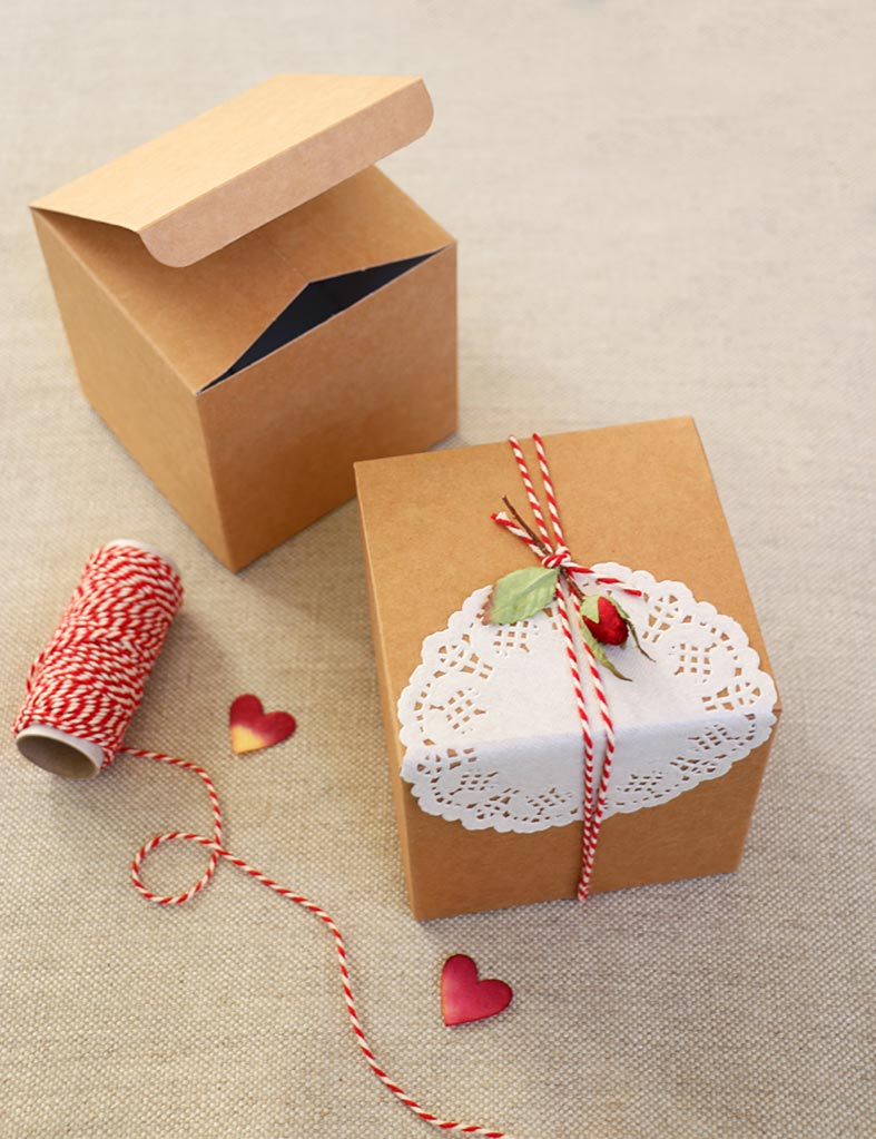 Your special Valentine gift all boxed up and tied up with string ...