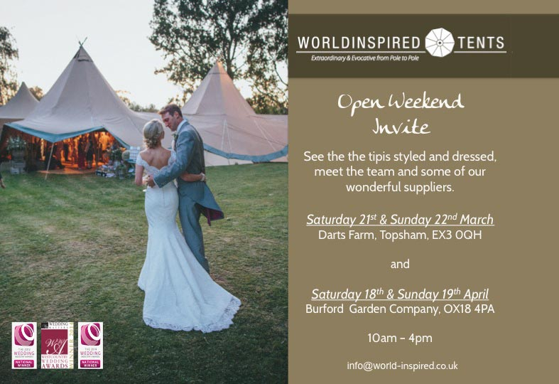 EVENT: Wedding tent open season is with us again!