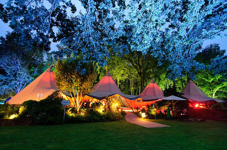 Stunning wedding tipis joined together to create a magnificent space