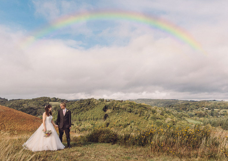Real Wedding Story  photographer, Jennifer Jane shoots into the rugged landscape of the Moor