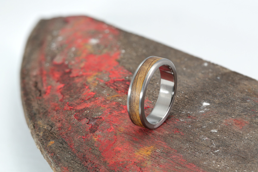 GREEN UNION partner, Eco Wood Rings, Beer Cask and Titanium Bespoke Wedding Ring