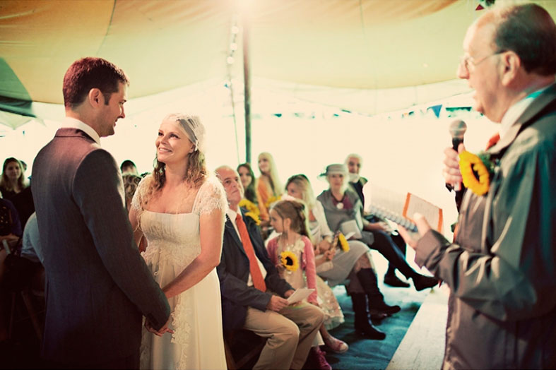 A wedding ceremony is steeped in tradition, often its very spiritual