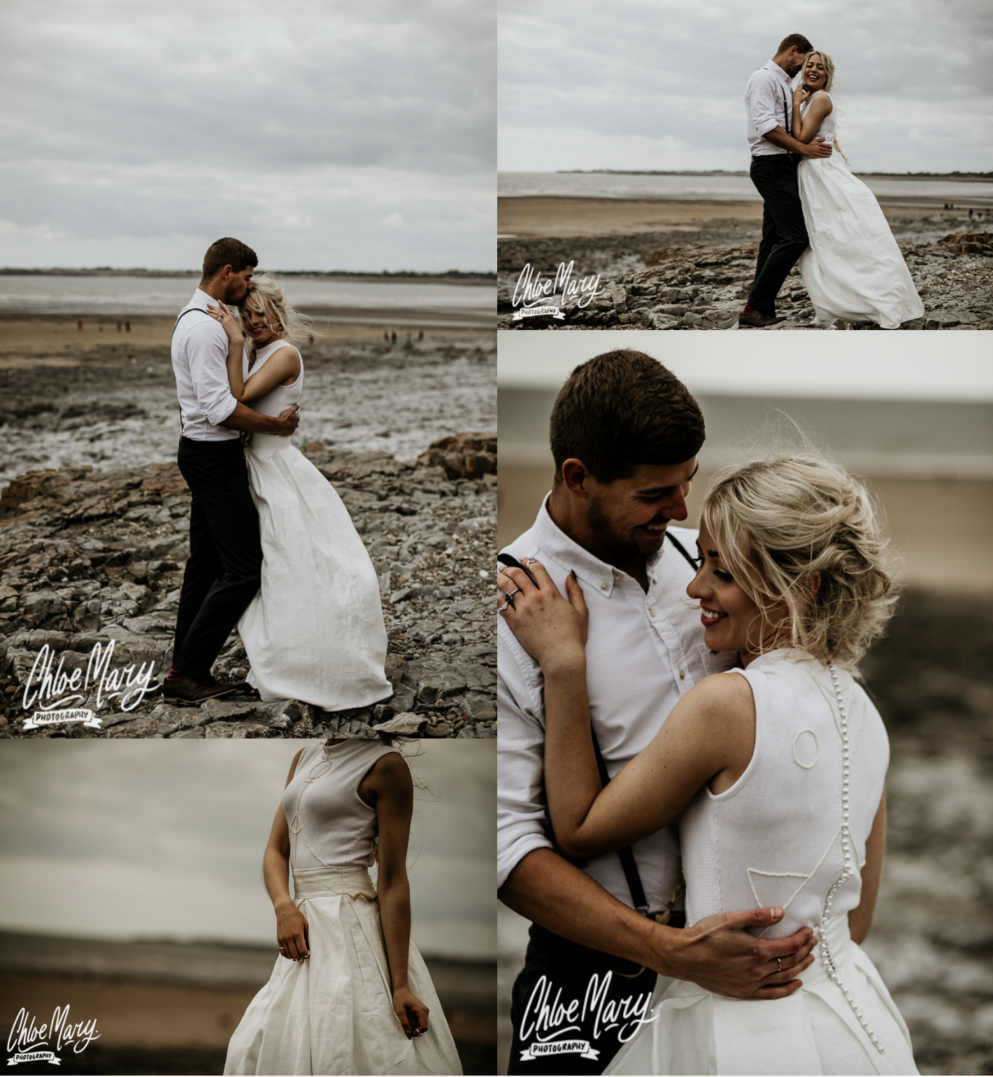 Chloe Mary Photo Eco Beach Elopement with Coop Couture dress