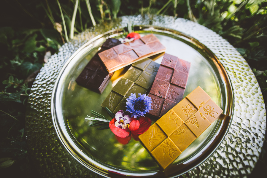 An Eco Friendly and Ethical Wedding at Bore Place, Kent, Captured by OneLove Pictures. Vegan Cacao Bars.