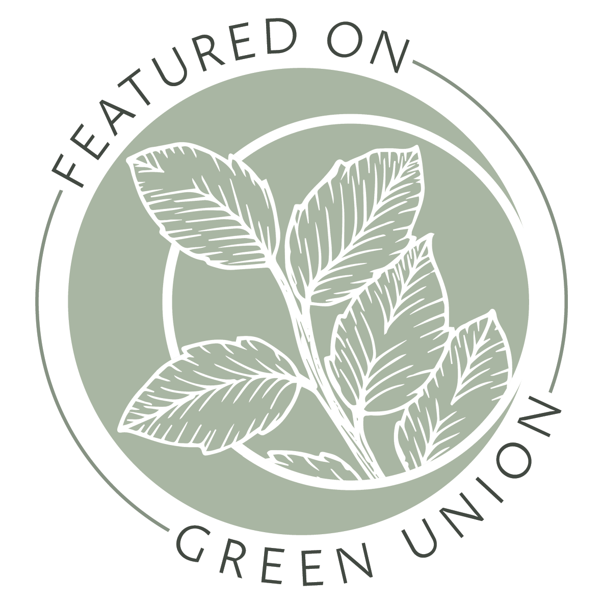 Featured on Blog Badge for Green Union Eco Friendly Wedding Blog